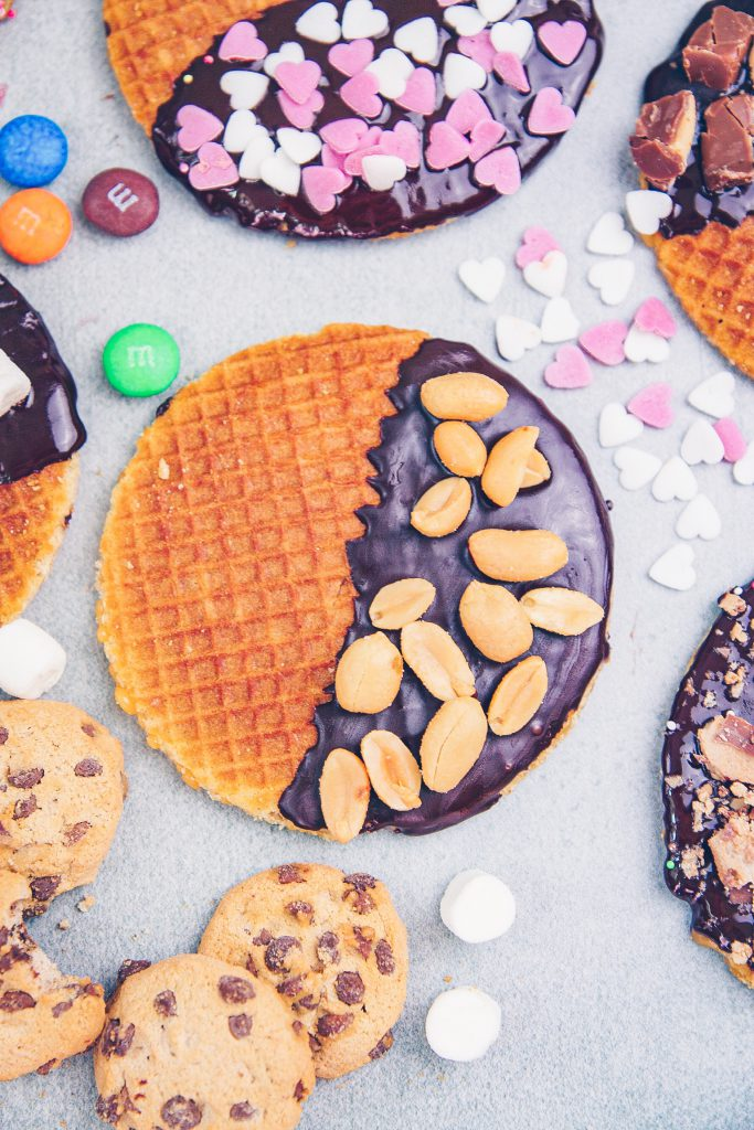 Dutch Stroopwafels with Toppings