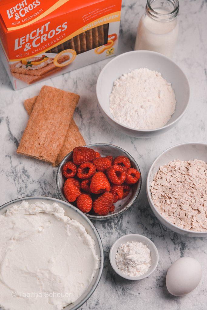 Zutaten für leckeren Käsekuchen