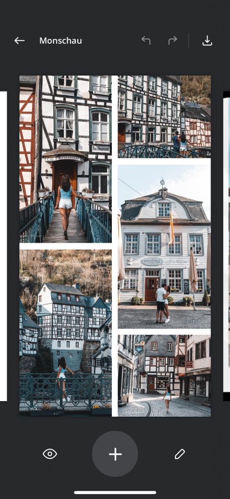 Foto Collagen für Instagram Stories