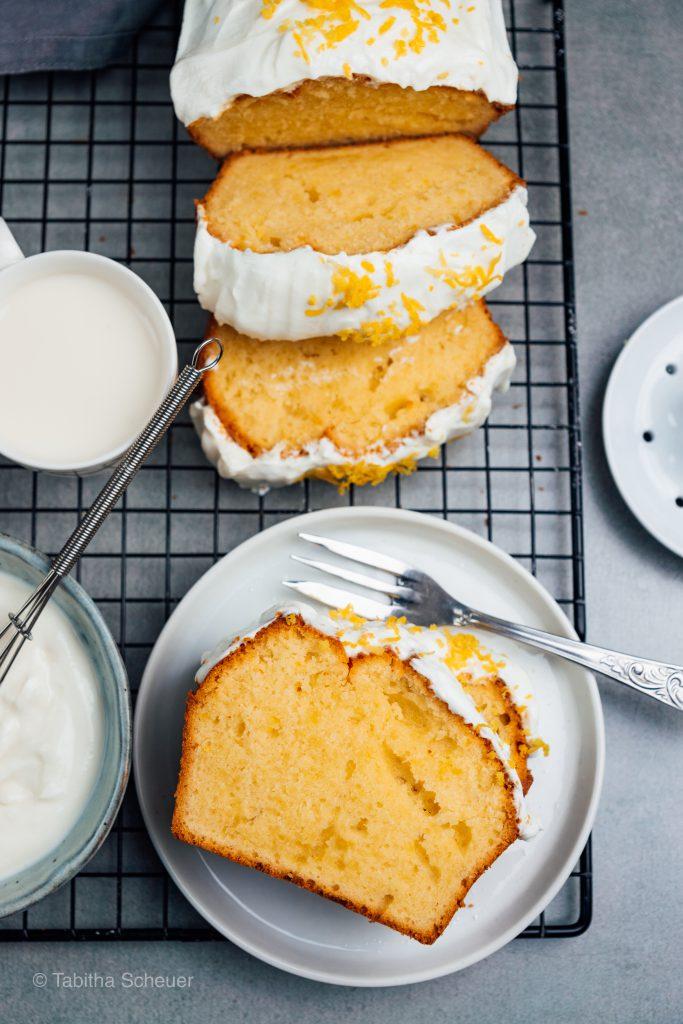 Gesunder Zitronenkuchen mit Glasur & Zitronensaft |Extra zitroniger Zitronenkuchen |Rezept für Zitronenkuchen
