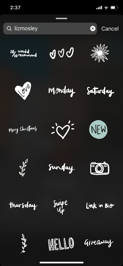 Instagram Story GIFs - die besten Suchbegriffe für Instagram Story GIFs
