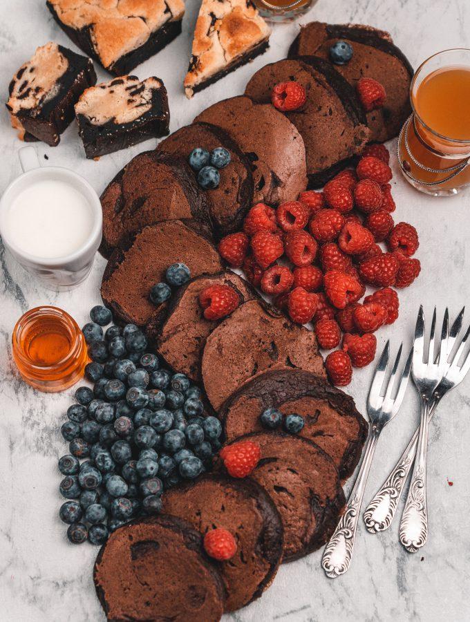 Pfannkuchen mit Schokolade | Schokoladen Pfannkuchen |Pancakes