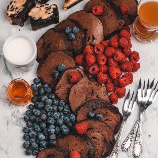 Rezept für Schokoladen Pfannkuchen | mariashealthytreats Blog