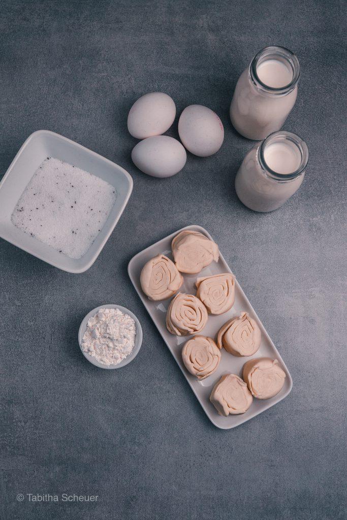 Zutaten Pastéis De Nata |Portugiesische Puddingtörtchen