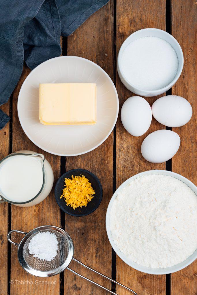 Zutaten für leckeren Zitronenkuchen |Rezept für Zitronenkuchen |Lemon Drizzle Cake