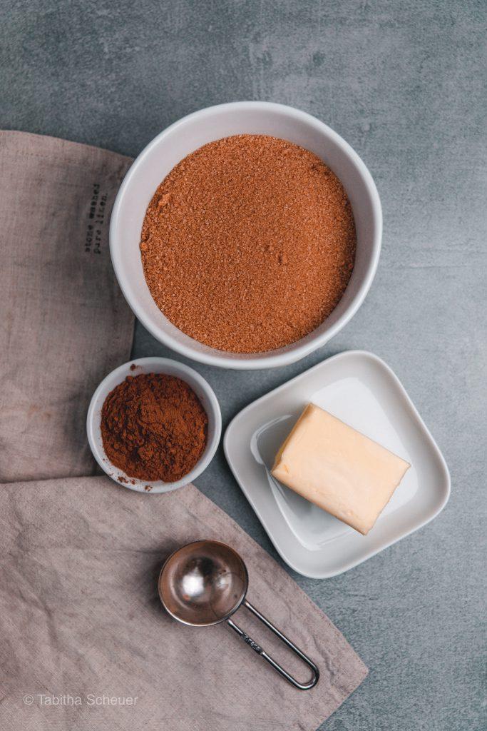 Zutaten für die Zucker-Zimt Mischung
