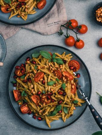 Rezept für leckere mediterrane Pasta
