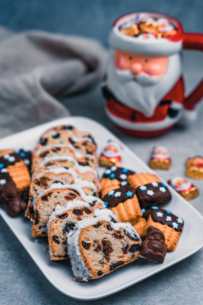 Rezept für weihnachtlichen Christstollen ohne Zucker
